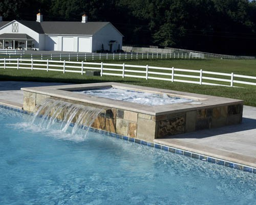 Add a spill over spa to your knoxville tn pool project for Pool design knoxville tn