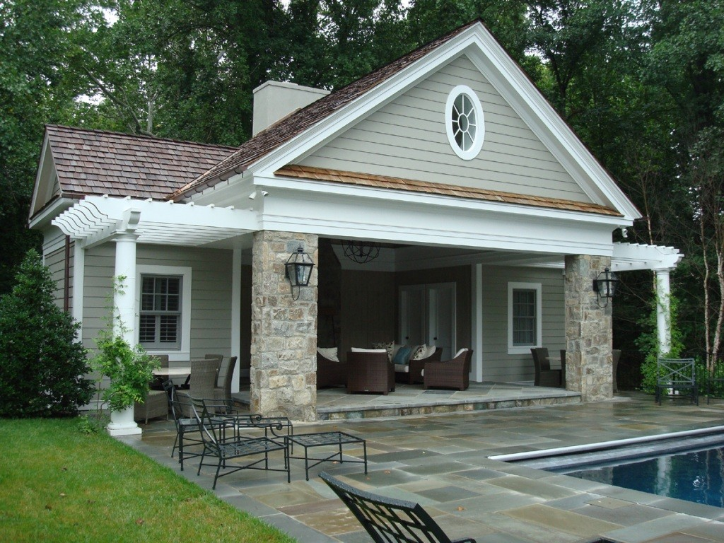 Add a pool house tipton pools knoxville for Diy pool house plans