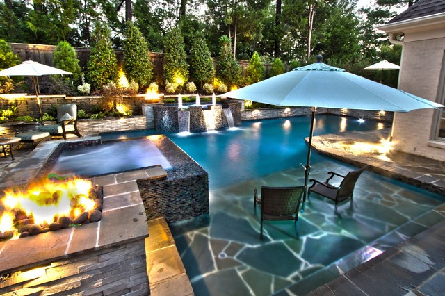 Design your outdoor living space: pool adjacent