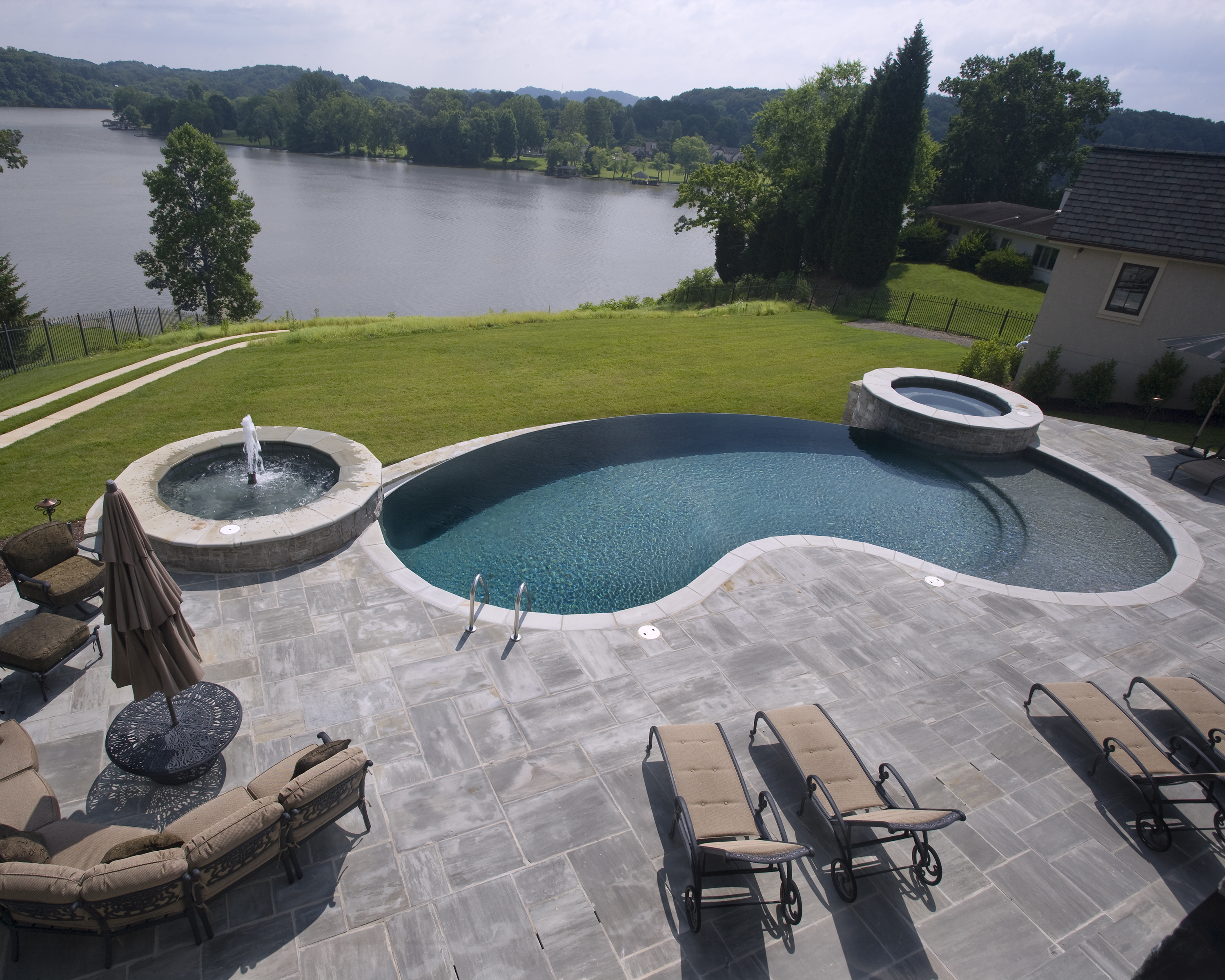 Pool landscaping planning trees for your pool for Pool design knoxville tn